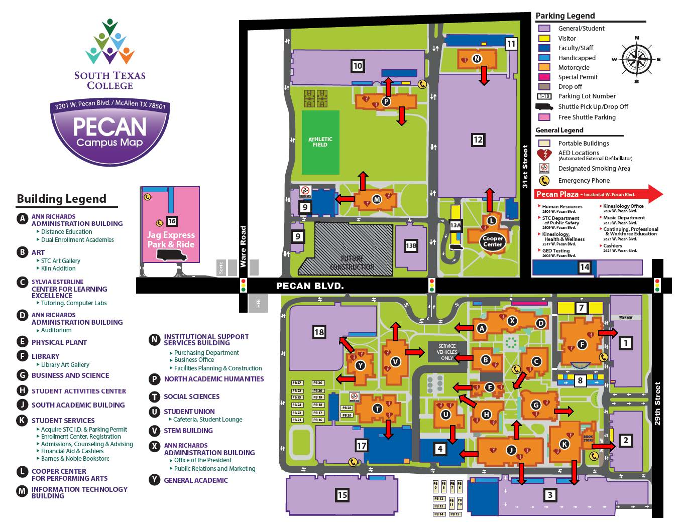 South Texas College Pecan Campus Map Emergency Preparedness | South Texas College