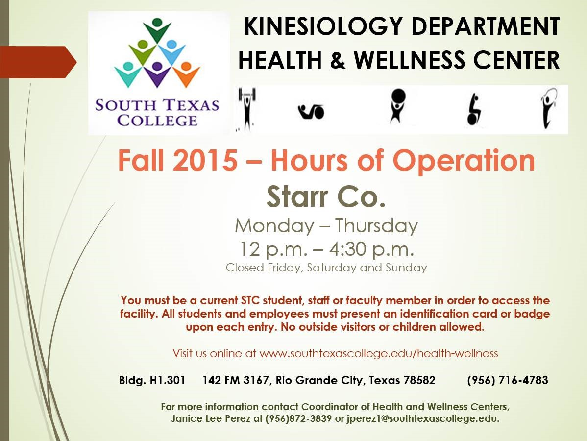 Health amp wellness centers south texas college